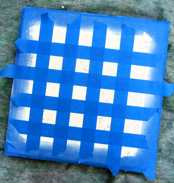 homemade checker board