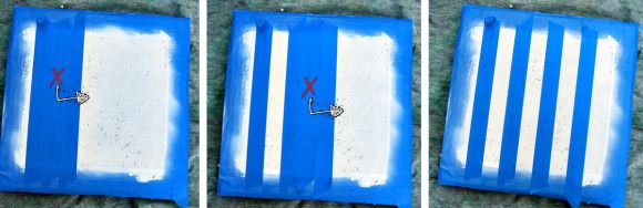 stripes on a chcker board