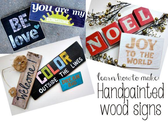 handpainted wood signs