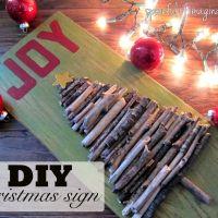 Christmas Joy {Stick Sign Tutorial}