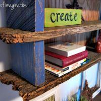 DIY Rustic Wood Shelf