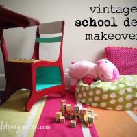 Vintage School Desk Makeover