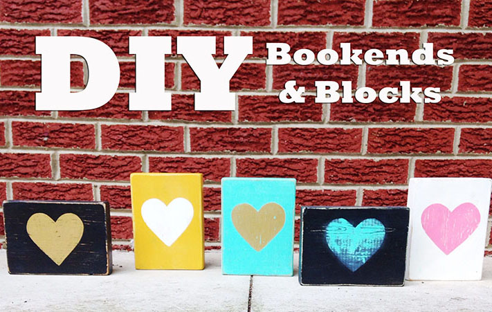 DIY Wood Bookends