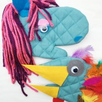 DIY Pot Holder Puppet (Turkey Craft for Thanksgiving!)