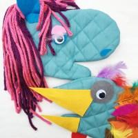 DIY Pot Holder Puppet (Turkey Craft for Thanksgiving!)