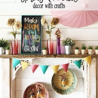Spring Mantel Decor with Crafts