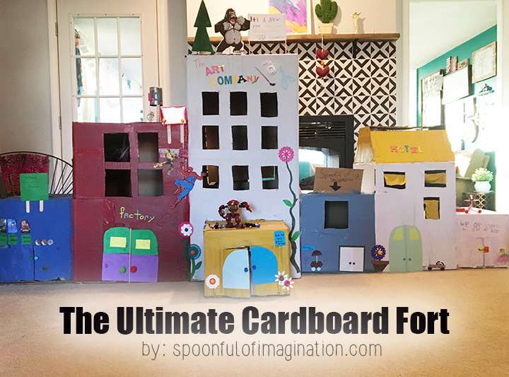 Vlog Behind The Scenes The Ultimate Cardboard Box Fort Spoonful Of Imagination