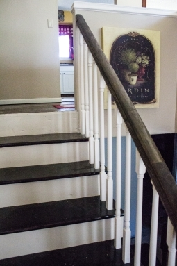 Split Level Staircase And Entryway Makeover My Chic Obsession | Split Level Stair Railing | Wrought Iron | Julia | Modern | Easy Diy | Fancy