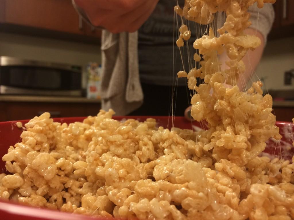 make rice krispie treats in the microwave