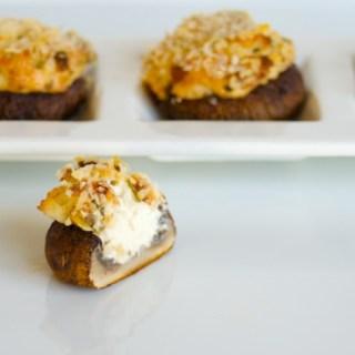 Goat Cheese, Pancetta and Chive Stuffed Mushrooms:  Little Retro Rockstars