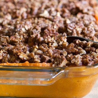 Maple-Whipped Sweet Potatoes with Bourbon-Glazed Pecans