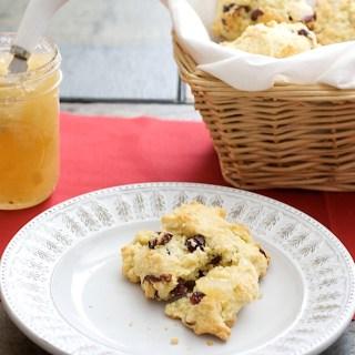 Gluten-free, Dairy Free Cranberry Scones
