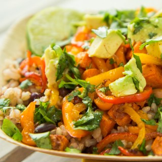 "Mexican Veggie ""Super Bowls"" with Chili Lime Vinaigrette"