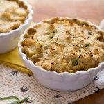Spring Veggie Shepherd's Pie with Roasted Garlic-Cauliflower Whip