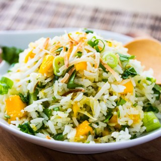 Tropical Toasted Coconut Mango Rice