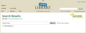 Open Library: 0 hits