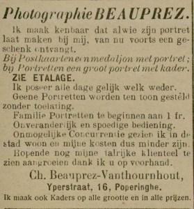 Poperinge 1913 Beauprez - De Poperinghenaar (1904-1914,1919-1944) 13 juli 1913 pagina 3 (3-3)