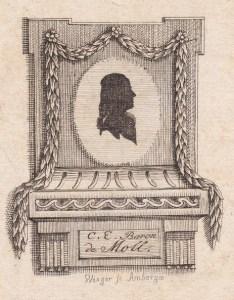 Ex libris Baron C.E. de Moll