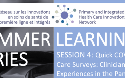 Summer Learning Series | Session 4: Quick COVID-19 Primary Care Surveys: Clinician and Patient Experiences in the Pandemic