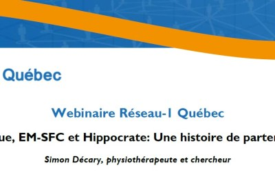Réseau-1 Québec WEBINAR: Long COVID, ME-CFS and Hippocrates: A history of patient partnership