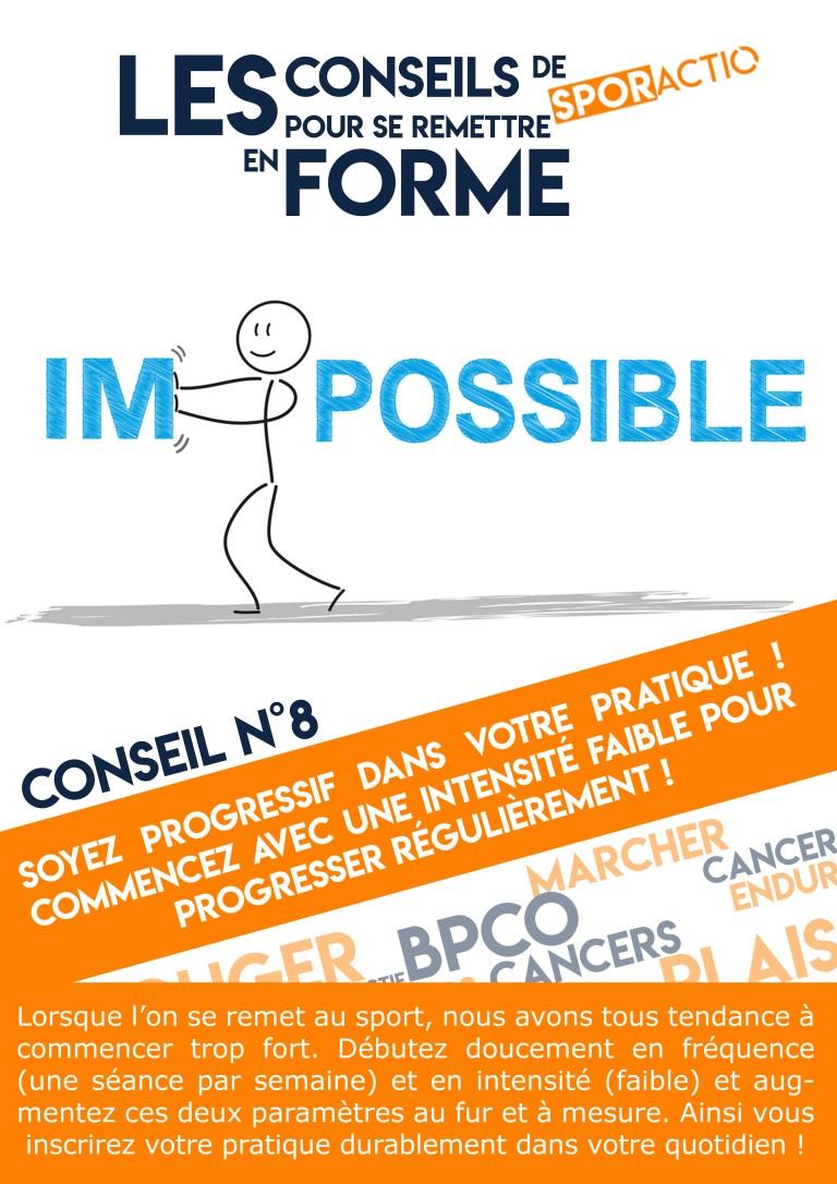 Les conseils de Sporactio N°8 – Être progressif