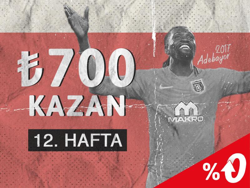 Youwin giriş adresinden Youwin Süper Lig Hatıra Defteri 12. Haftada 700 TL bonus dağıtıyor. Süper Lig 12. Hafta kampanyalarından önce bu haftanın anısı