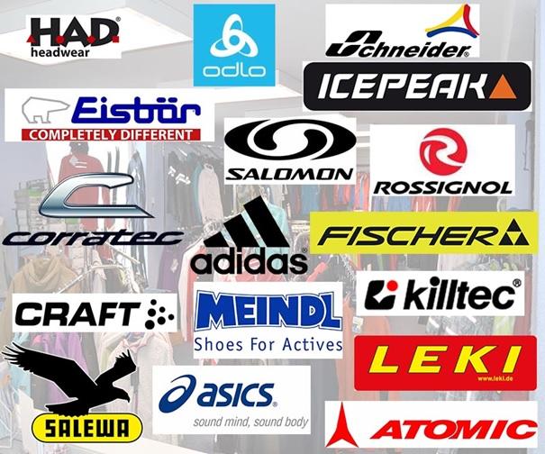 Sportartikel von diversen Marken