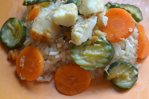recette facile et rapide de risotto de cabillaud une recette du régime Okinawa