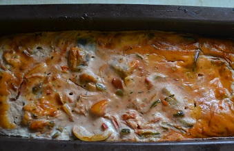 Terrine de ratatouille légère : une recette minceur rapide.Un peu de fraîcheur et de légumes dans nos assiettes pour cette fin d'été.