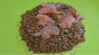 Fiche Recette diététique: Salade de saumon aux lentilles. Une recette légère et facile à réaliser pour préserver  notre santé .
