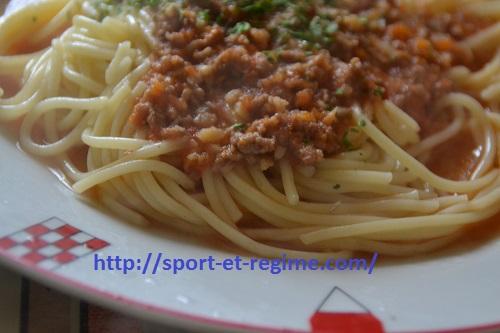 Regime spaghettis de l'énergie pour les sportifs. Oui les pâtes sont bonnes pour notre corps car elles fournisssent de l'énergie