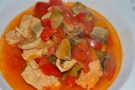 Recette Cookeo minceur : escalopes de poulet basquaise