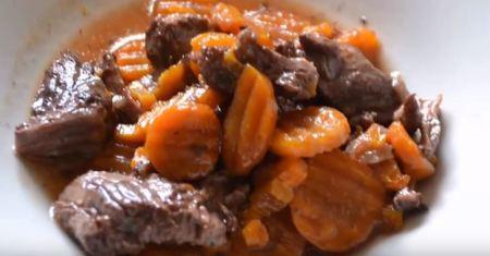 boeuf carottes au cookeo