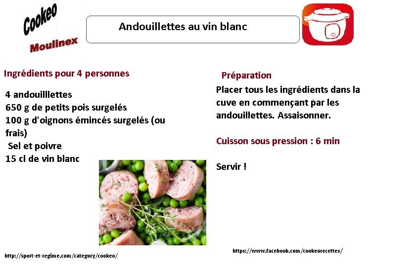 fiche cookeo andouillettes au vin blanc