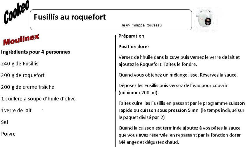 fusillis roquefort