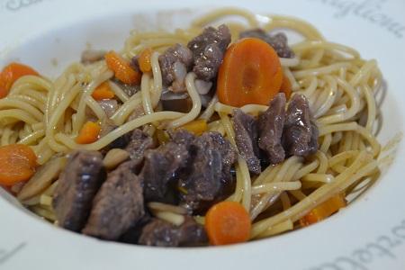 Spaghettis bourguignonne cookeo