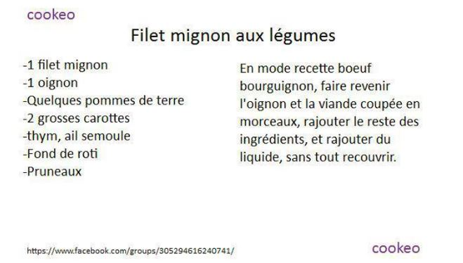filet legumes