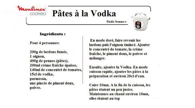 pates vodka cookeo
