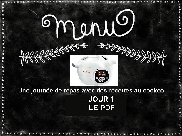 PDF Menu cookeo équilibré jour 1 gratuit