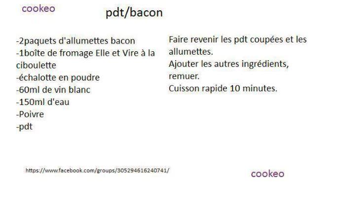 PDT BACON 10 recettes cookeo pommes de terre et viandes