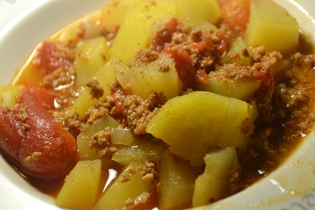 Haché boeuf pommes de terre cookeo