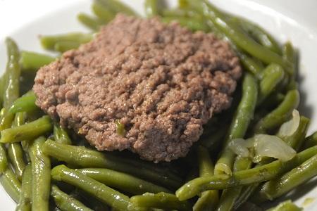 Fiche cookeo steaks hachés haricots verts