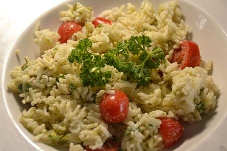 Salade asperges riz Boursin recette cookeo