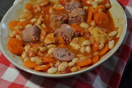 Cassoulet poulet recette cookeo