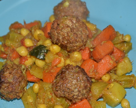 Couscous boulettes végétariens au cookeo