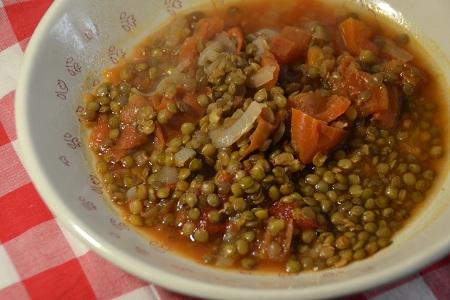 Lentilles tomates curry recette cookeo