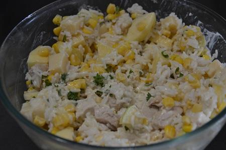 Salade composée riz poulet recette cookeo