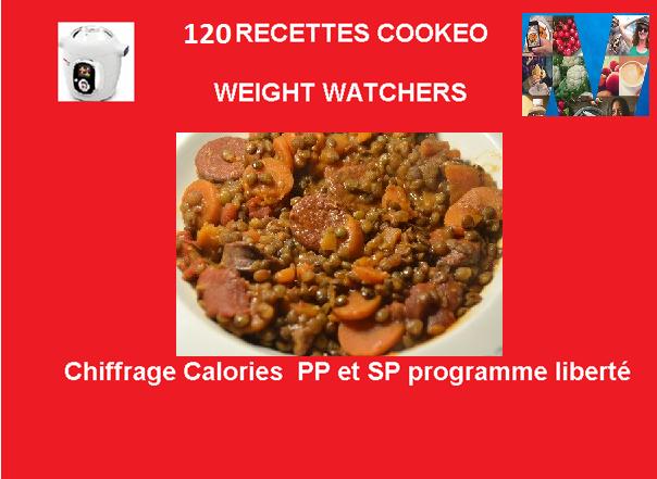 120 Recettes cookeo weight watchers en fiches PDF gratuit