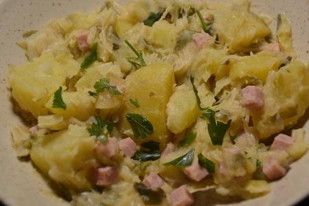 Poireaux pommes de terre dés de jambon cookeo