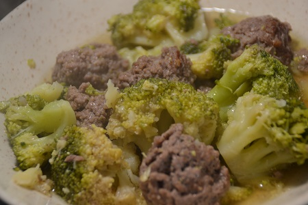 Boulettes de boeuf brocolis cookeo